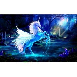 """Unicorn Horse"" Customized Silk Print Poster 24"" x 36"""