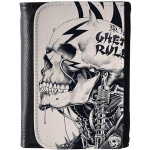 """Skulls Design"" Wallet For Man, 4.72x3.74x0.79"""