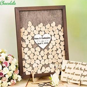 Brown Wedding Guestbook Wedding Shadow Box
