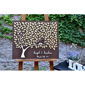 """Tree Wood "" Custom Unique Wedding Guest Book"