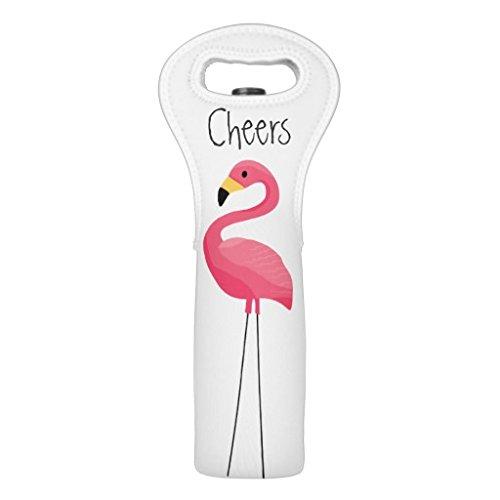 """ Flamingo "" Single Wine Tote"