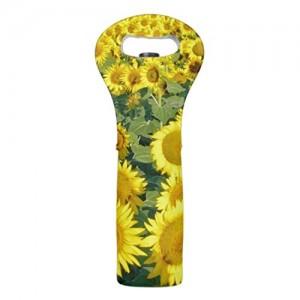 """""""Yellow Sunflower"""" Single Wine Tote"""