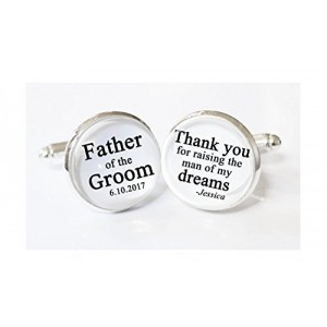 """""""Father of the Groom Gift"""" """"Wedding"""" Cufflinks For Dad(A pair)"""
