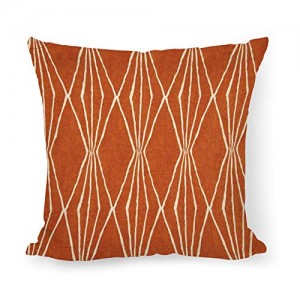 """Burnt Orange"" Throw Pillow Covers 18"" x 18"""
