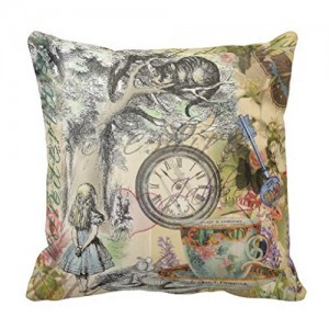 """Alice im Wunderland"" Throw Pillow Covers 18"" x 18"""