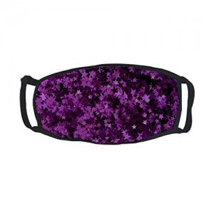 """""""Glitter Background""""  Adult Outdoor Protective Face Cotton Mouth Mask, Purple"""