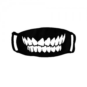 """""""Black Teeth""""  Adult Outdoor Protective Face Cotton Mouth Mask"""