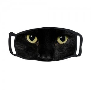 """""""Black Cat""""Outdoor Protective Cotton Face Mouth Mask"""