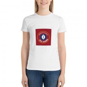 """""""ALL STARS"""" Double-sided Area Printing White T-shirt for Women"""