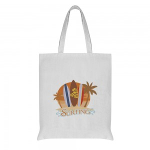 """""""SURFING"""" Double-sided printing Cotton and linen Tote Bag 15""""X16"""""""