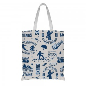 """""""motion"""" Double-sided printing Cotton and linen Tote Bag 15""""X16"""""""