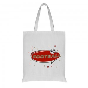 """""""football"""" Double-sided printing Cotton and linen Tote Bag 15""""X16"""""""