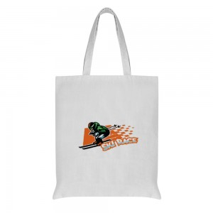"""""""SKI RACE"""" Double-sided printing  Cotton and linen Tote Bag 15""""X16"""""""