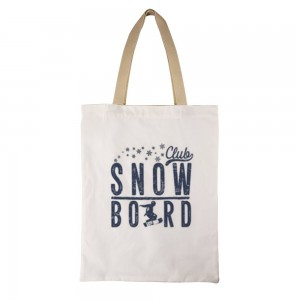 """""""SNOW BORD"""" Double-sided printing Canvas Tote Bag"""