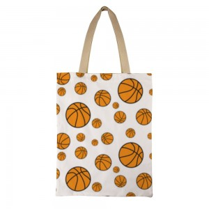 """""""basketball"""" Double-sided printing Canvas Tote Bag"""