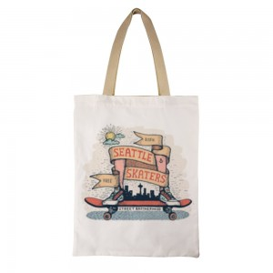 """""""SEATTLE SKATERS"""" Double-sided printing Canvas Tote Bag"""
