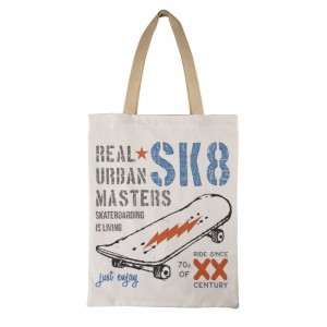 """""""REAL URBAN MASTERS"""" Double-sided printing Canvas Tote Bag"""