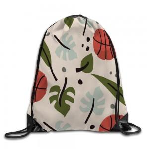 """""""Basketball"""" """"Leaf"""" Drawstring Bags 14.2""""x 17"""""""