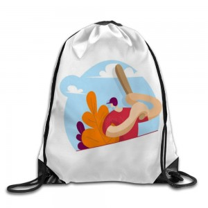 """Baseball bat"" Drawstring Bags 14.2""x 17"""