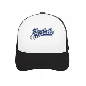 """basketball league"" Adult bend rubber baseball cap hollow out"