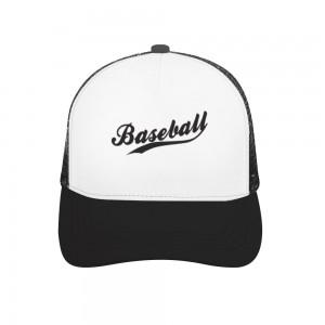 """basketball"" Adult bend rubber baseball cap hollow out"