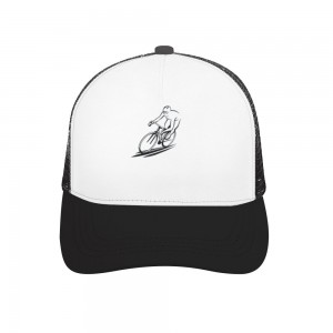 """""""ride a bicycle"""" Adult bend rubber baseball cap hollow out"""