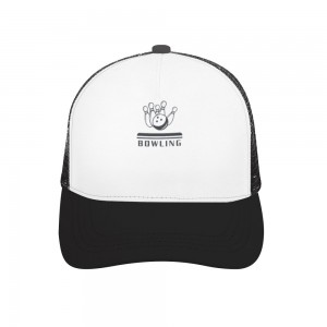 """""""BOWLING"""" Adult bend rubber baseball cap hollow out"""