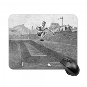 """long jump"" Create your own Rectangle mouse pad"