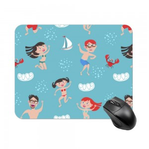"""swimsuit"" Create your own Rectangle mouse pad"