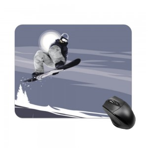"""ski"" Create your own Rectangle mouse pad"