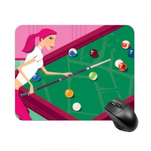 """billiards"" Create your own Rectangle mouse pad"