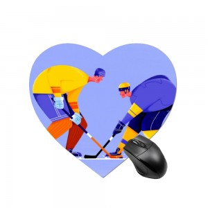"""puck"" Heart-shaped mouse pad  8.7"" x 8.3"""