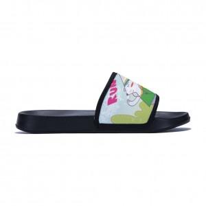 """""""Running rabbit"""" slippers for children black color"""