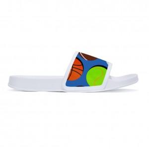 """""""basketball"""" slippers for children White color"""