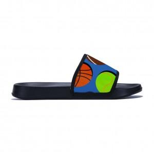 """""""basketball"""" slippers for children black color"""