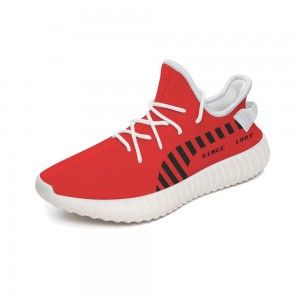 """""""Since 1995"""" 350V2 Coconut Sports Shoes Red"""
