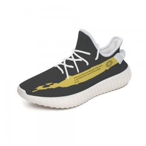 """""""Yellow pattern"""" 350V2 Coconut Sports Shoes Gray"""