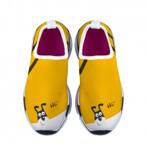 """""""Happy puppy"""" yellow Children's sports shoes"""