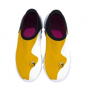 """""""Wavy"""" yellow Children's breathable sneakers"""