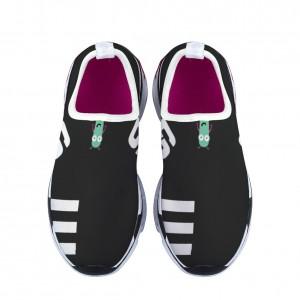 """""""3 white poles"""" Children's sports shoes Black"""