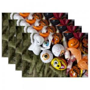 """Halloween Balls"" Heat-resistant Placemats 11.8"" x 17.7"", 4 sheets of per set"