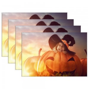 """""""Halloween Girl"""" Heat-resistant Placemats 11.8"""" x 17.7"""", 4 sheets of per set"""