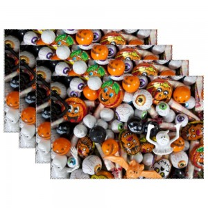 """""""Halloween eyes"""" Heat-resistant Placemats 11.8"""" x 17.7"""", 4 sheets of per set"""