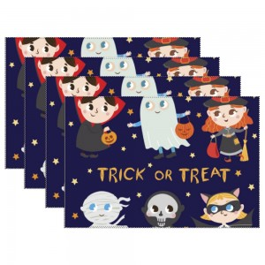 """""""Halloween Baby Monster"""" Heat-resistant Placemats 11.8"""" x 17.7"""", 4 sheets of per set"""