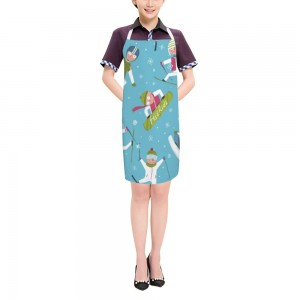 """Cute"" ""skiing""  Adult apron 27.5"" x 31.5"""