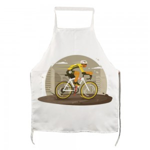 """Bicycle"" Adult apron with two pockets 27.5"" x 31.5"""