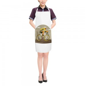"""Bicycle"" Adult apron 27.5"" x 31.5"""