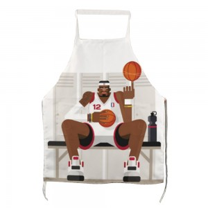 """Basketball"" Adult apron with two pockets 27.5"" x 31.5"""