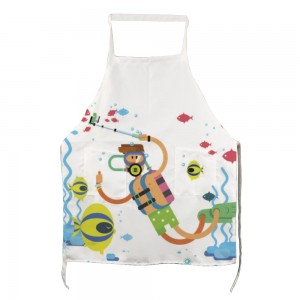 """Cute"" ""Diving"" Adult apron with two pockets 27.5"" x 31.5"""