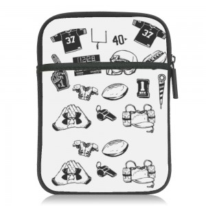 """Sports"" White Kindle Sleeves Bag"
